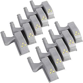 10 stks Warm/Koel Wit Universele Kast Kast Kast Nachtlampje Garderobe LED Scharnier Sensor Licht Thuis Keuken(Warm licht)