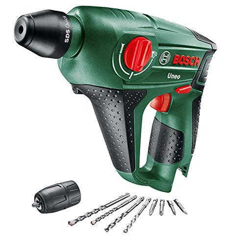 Bosch Home and Garden 060398400C Martillo perforador sin batería, para bricolaje (12 V, 2,5 Ah, 10 mm de diámetro de perforación de hormigón), 0 W, Negro y verde