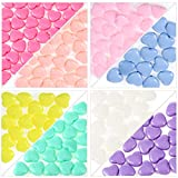 200 Pieces Acrylic Heart Beads Colorful Assorted Candy Color Mix Plastic Pastel Beads Heart Shape Pony Beads for Hair Braids Jewelry Making Bracelet Rainbow Necklace Jewelry Making