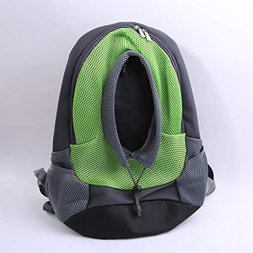 LLQM Huisdier benodigdheden, katten en honden tassen, uit, draagbare, ademende tassen, mode rugzakken, Vert, Trompet