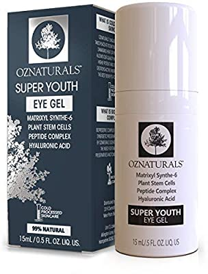OZNaturals Eye Gel Eye Cream - For Dark Circles, Puffiness, Wrinkles - This Anti Wrinkle Eye Gel Is Considered To Be One Of The Most Effective Anti Aging Eye Creams Available! - 0.5 Ounce