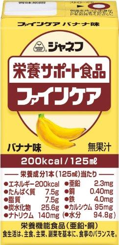 ジャネフ ファインケア栄養サポート飲料 バナナ風味 125ml×12個