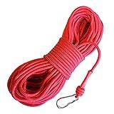 LeBigMag | Outdoor Seil ø 8 mm | 30 m | extrem reißfest bis 800 kg | mit Schraubkarabiner | Kein Kletterseil (kein Dehnungsseil)