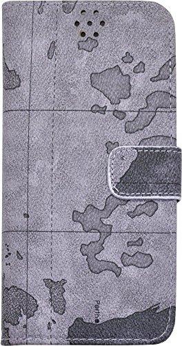 PLATA iPhone6 plus ケース 手帳型 地図柄 ワールド デザイン ケース ポーチ iPhone 6 プラス 【 03 】 IP6P-6003-03