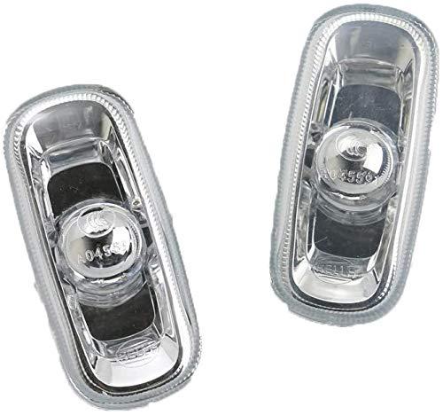 Luz de señal de giro lateral izquierda y derecha, 2 piezas, compatible con Audi A4 S4 A3 A6 S6 2002-2008 8E0949127 8E0 949 127