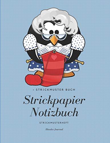 Strickmuster Buch: Strickpapier Notizbuch, Strickmusterheft, Blanko Journal
