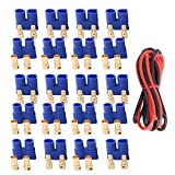 10 Pairs Amass EC3 Battery Connector Plugs,3.5mm Banana Plug Female Male Bullet Connector with 14 Gauge Silicone Wire for RC ESC LIPO Battery Electric Motor Airplane Quadcopter Parts DIY