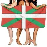 Toalla de playa de la bandera de Euskadi para playa, baño, playa, toalla de playa, toalla de playa, 31 x 51 pulgadas
