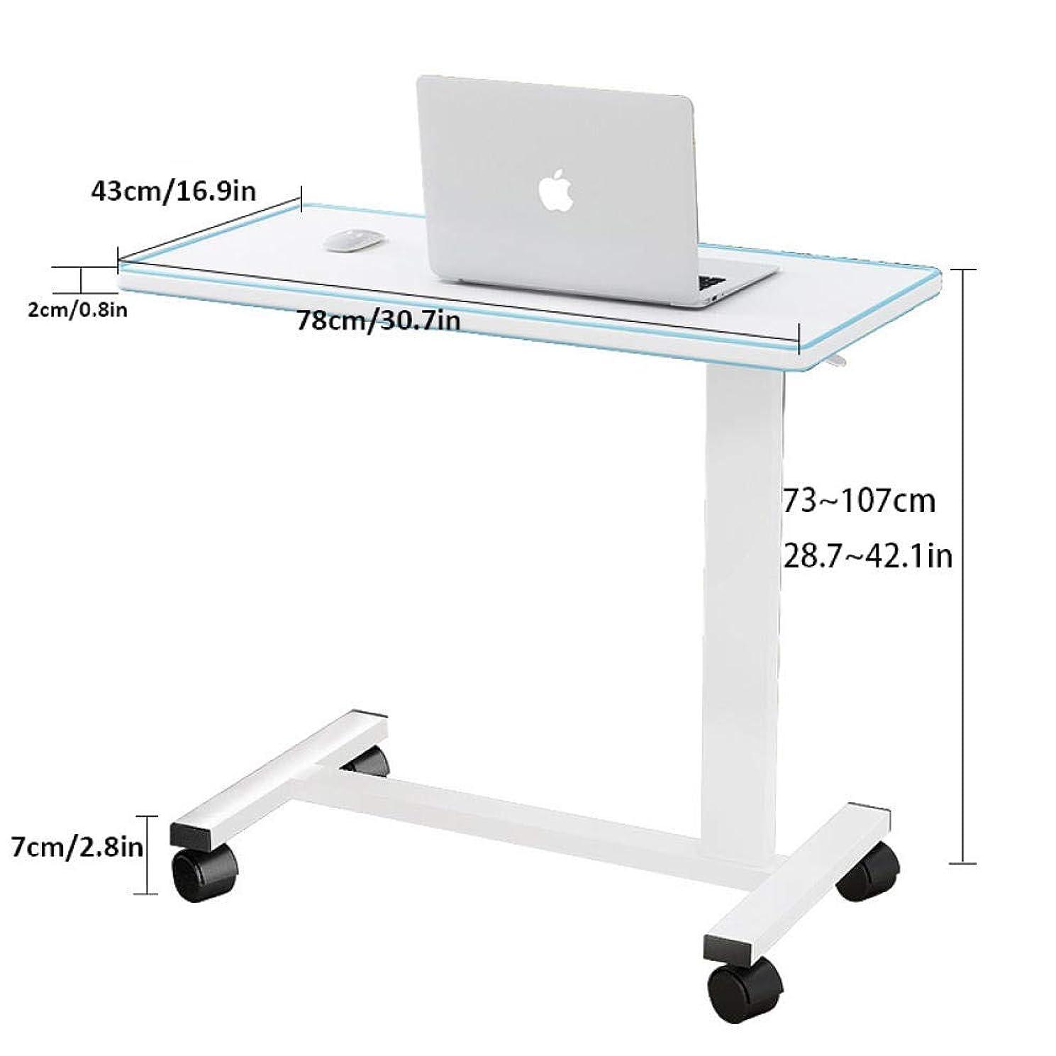 限界調査減衰鋼管 移動昇降式テーブル 立って 白密度ボード 付き,エルゴノミクス 昇降式デスク 高さ調節可能、ロック可能なキャスター