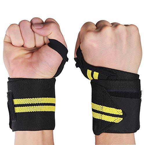 Fascia mano LOMATEE snodo per forza Sport, allenamento forza/Training - Set di 2 - 47 cm Per proteggere/stabilità e non affaticare le articolazioni della mano