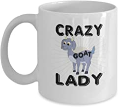 Mug, Goat Lover Coffee Mug - Crazy - Ladies Gifts Ideas -11 Oz Ceramic Cup
