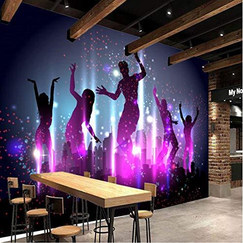 Fototapete Coole Mode Karneval Menschenmenge Tanzen Party Bar Hintergrundbild Benutzerdefinierte Hochwertige Fototapete 250X175 Cm