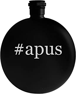 #apus - 5oz Hashtag Round Alcohol Drinking Flask, Black