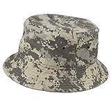 Gelante 100% Cotton Packable Fishing Hunting Summer Travel Bucket Cap Hat 1900-Grey Digital Camo-L/XL