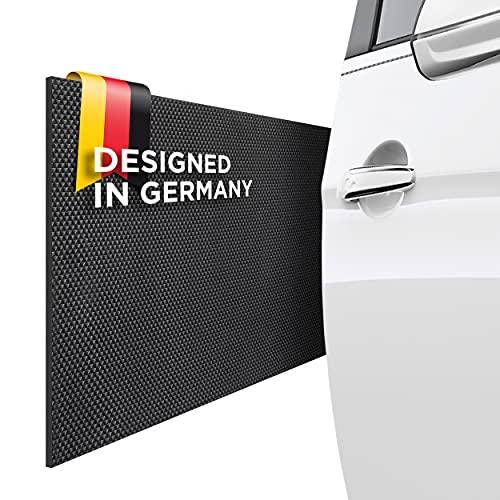 AWOSS  Garagenwandschutz selbstklebend - 2er Set Garage Wandschutz [200x20x0,65cm] – Bombenfester Kleber – Stoßsicheres & wasserabweisendes Material