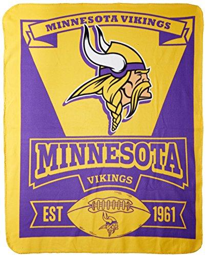 "The Northwest Company NFL Minnesota Vikings ""Marque"" Fleece Throw Blanket""Marque"" Fleece Throw Blanket, Purple, 50"" x 60"" (1NFL/03102/0023/AMZ)"