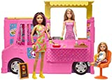 Barbie- Restaurante Hermanas Incluye 3 MUÑECAS Y MAS DE 30 Accesorios, Multicolor (Mattel GWJ58)