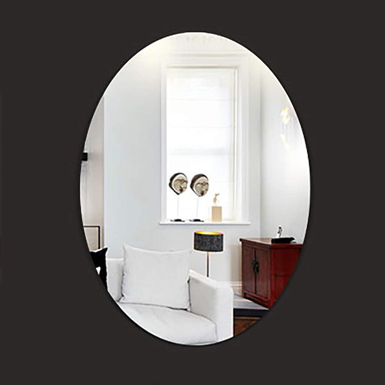 Mirror,Oval Frameless Bathroom, Hotel Vanity, Hypotenuse Flat Edge,Paste Wall Hanging Toilet Washroom Simple Decorative Design Mirror Dressing