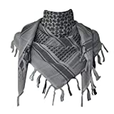 Explore Land Cotton Shemagh Tactical Desert Scarf Wrap (Gray)