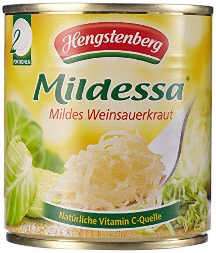 Hengstenberg Mildessa Weinsauerkraut 2 Portionen, 15er Pack (15 x 314 ml Dose)