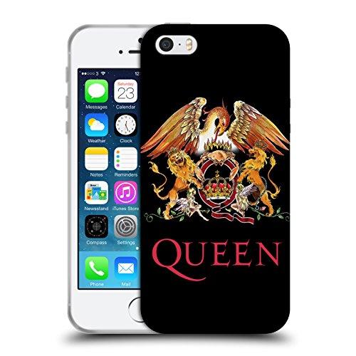 Head Case Designs Licenza Ufficiale Queen Stemma Arte Chiave Cover in Morbido Gel Compatibile con Apple iPhone 5 / iPhone 5s / iPhone SE 2016