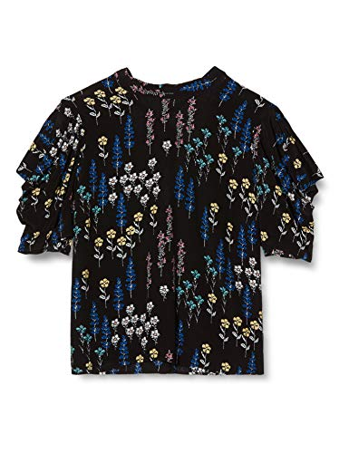 Amazon-Marke: find. Damen Bluse Floral Print, Mehrfarbig (Flower Print), 36, Label: S