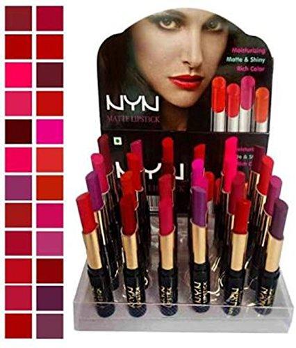 NYN Spanking Matte Waterproof Lipsticks - Pack of 24