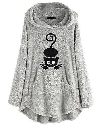Wsgyj52hua 2020 Herbst Und Winter Neuer Pullover Damen Kapuzenpullover Doppelseitige Fleecestickerei Damenjacke