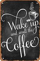 コーヒーのにおいがする メタルポスタレトロなポスタ安全標識壁パネル ティンサイン注意看板壁掛けプレート警告サイン絵図ショップ食料品ショッピングモールパーキングバークラブカフェレストラントイレ公共の場ギフト