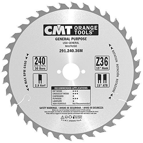 CMT Orange Tools 291,240,36 m scie circulaire 240 x 2,8 x 30 z 36 atb 15 degrés