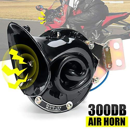 HELLX Cuerno De Caracol Universal, 300DB 12V / 24V Bocina De Aire Eléctrica Súper Fuerte Y Claro Sonido Claro para Coche Moto Camión Barco (24V)
