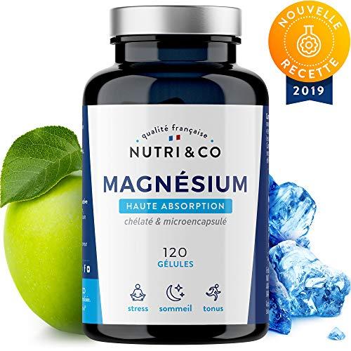 Magnesium Végétal + Vitamine B6 Bio-Active   Malate & Liposome de Magnésium   Absorption Supérieure au Bisglycinate & Haute Teneur (300 mg de Mag Élément/Jour)   120 Gélules Made in France   Nutri&Co