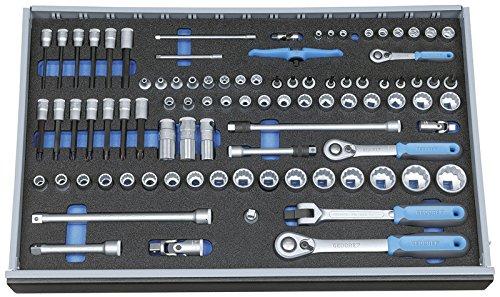 """GEDORE 2005 CT4-U-20 Steckschlüssel-Satz 1/4""""-3/8""""-1/2"""" in Check-Tool-Modul, 91-TLG"""