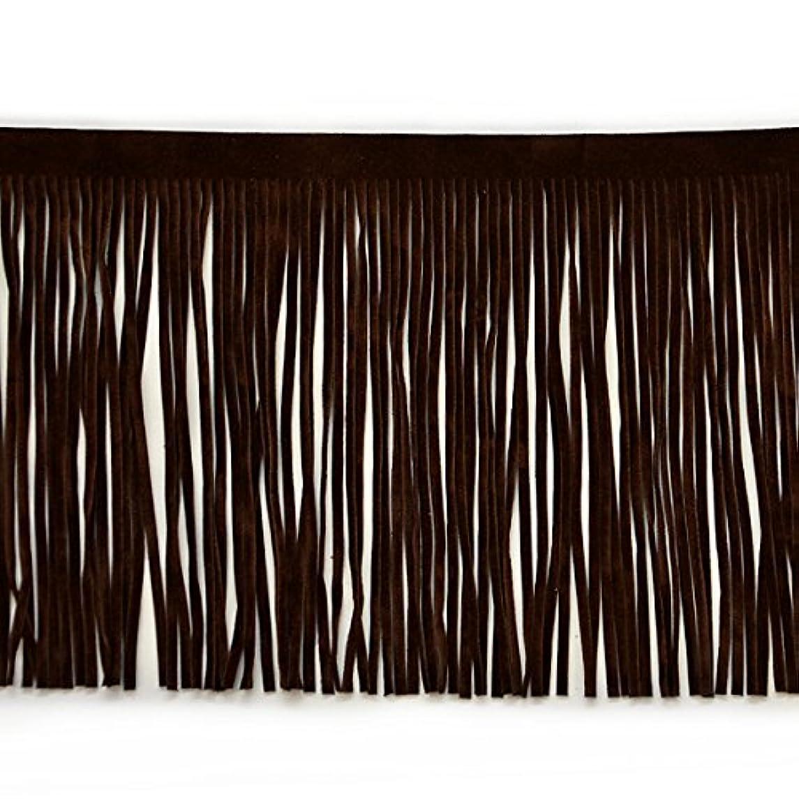 Expo International 4-Inch Faux Suede Fringe Trim Embellishment, 10-Yard, Brown
