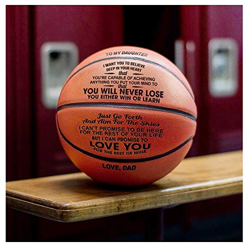 Best Prices! Dad to Daughter Engraved Basketball Gifts - to Girl 29.5 Inch Basketball School Season ...