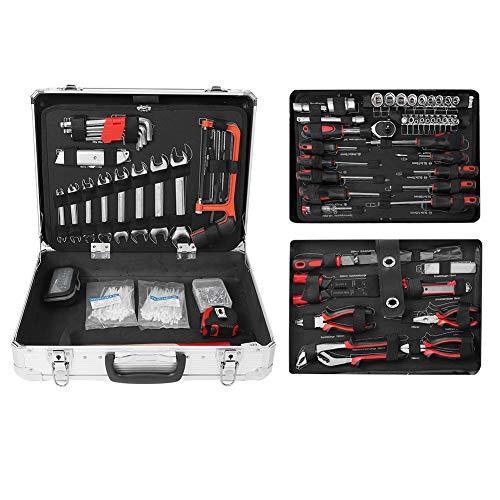 Valigia degli attrezzi composta da 500 pezzi | cassetta degli attrezzi | Kit di riparazione auto | set di arnesi | Valigia In Alluminio