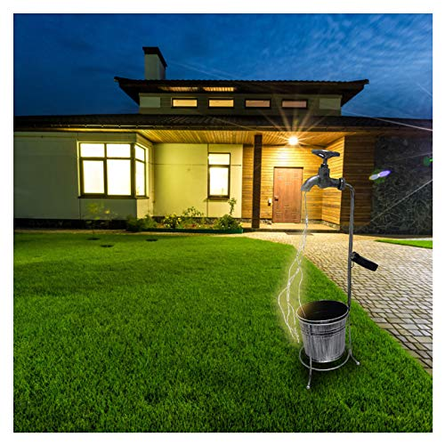 Star Shower Garden Art Watering Can with Lights Decoration, Watering Can Floor Lamp Decor, Led Fairy Lights, Watering Can String Lights for Outdoor Garden Button Battery Powered (1 Set C)