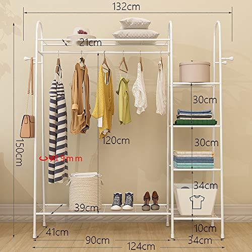 SSZZ vrijstaand schoenenrek voor het ophangen van kleding, schoenenkast, multifunctioneel, van staal