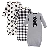 Yoga Sprout Unisex Baby Cotton Gowns, Bear Hugs, 0-6 Months