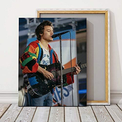 wZUN Cuadro de impresión HD Arte de Pared Cielo Estrellado Guitarra Pintura Cartel Lienzo Sala de Estar decoración del hogar 60x80 Sin Marco