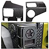 ECOTRIC Rear Corner Guards Body Armor Kit Compatible with 2007-2018 Jeep Wrangler Replacement for 11651.01 Rear Quarter Panel Black Diamond