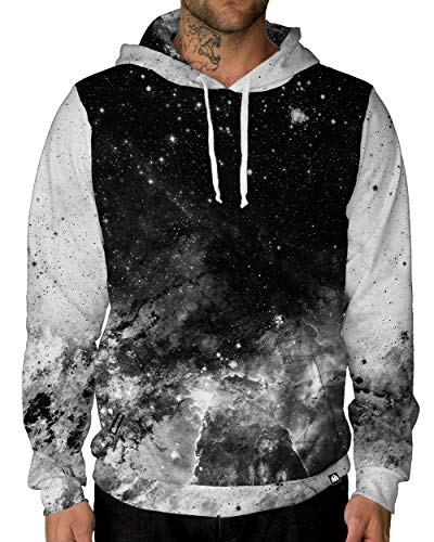 INTO THE AM Space Minimalist-Black Premium Pullover Hoodie (Large)