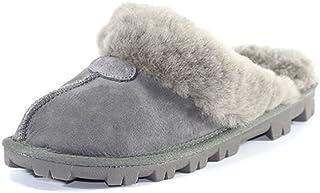 澳大利亚 UGG Grand DownUnder 棉拖鞋室内拖鞋 女款冬季防滑拖鞋 (GRAY 灰色, 38)