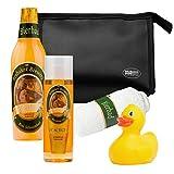 BRUBAKER bagno Beer Box - 5 pezzi - regalo per gli uomini - con borsa toilette, washcloth e l'anatra del bagno
