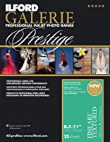 ILFORD 2002410 GALERIE Prestige Fine Art Textured - 8.5 x 11 Inches, 25 Sheets by Ilford
