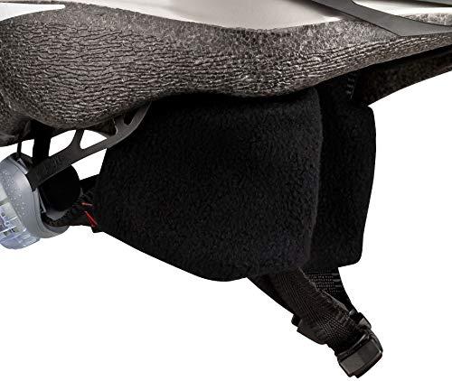 CHECKZEB Winddichte Ohrenschützer aus Fleece für den Fahrradhelm (Wintermodell) (Schwarz, S)