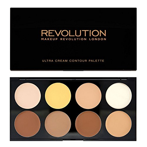 Makeup Revolution Ultra Cream Contour Palette, Makeup Highlighter for Luminously Glowing Look, Cream Highlighter, Cream Makeup Palette