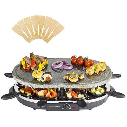 Andrew James–aj000030–Maschine à Raclette aus Bambus 8Personen