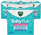 Vicks BabyRub Chest Rub Ointment with Soothing Aloe, Eucalyptus, Lavender, and Rosemary, f...