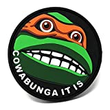 Cowabunga It is PVC Hook and Loop Patch | Funny Tactical Patch